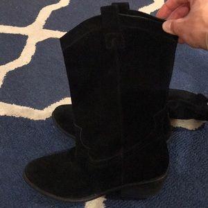 Black Jessica Simpson cowboy boots. Size 9.5